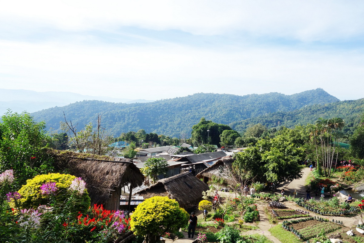 hmong hilltribe village, hmong village, hmong tribal village, doi pui hmong village, doi pui hmong hilltribe village