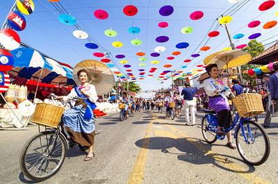 bosang umbrella festival, chiang mai festival