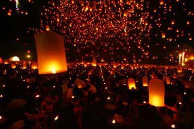 yeepeng festival, chiang mai festival