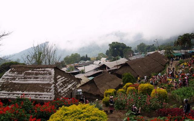 hmong hilltribe village, hmong village, hmong tribal village, doi pui hmong village, doi pui hmong hilltribe village